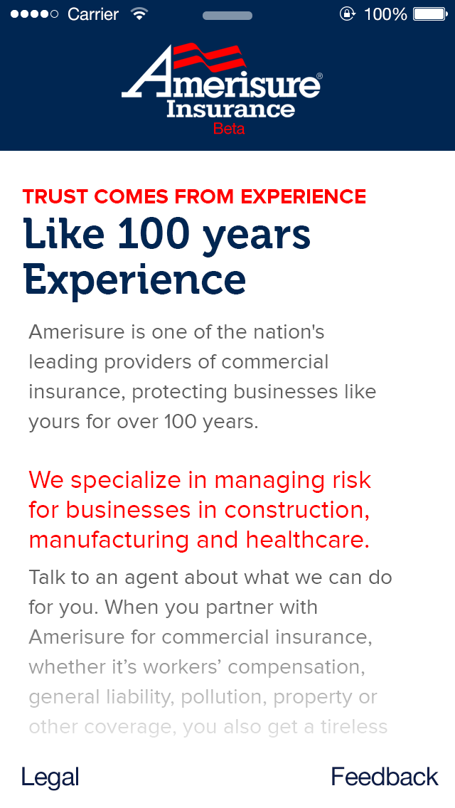 Amerisure Insurance iOS App