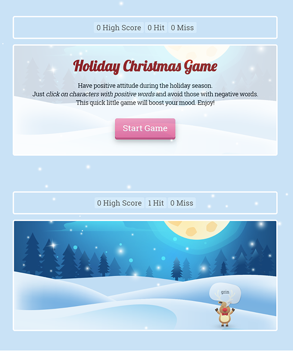 Happy Holidays Christmas html5 game