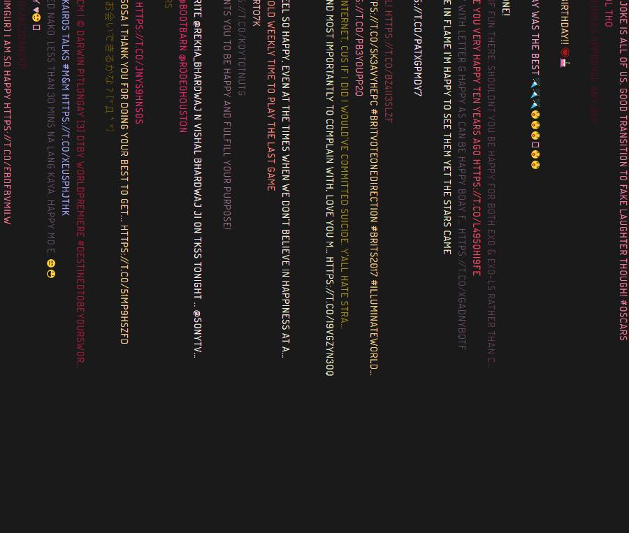 Interactive Twitter art piece