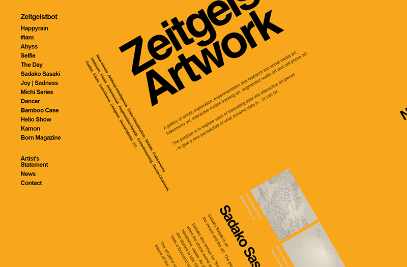 Zeitgeistbot swiss design